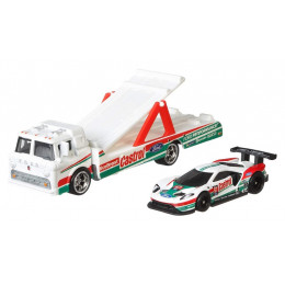 Hot Wheels - Car Culture – Ford GT Race + transporter C-800 - GJT40