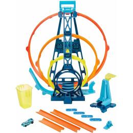 Hot Wheels Track Builder - Potrójna pętla - GLC96