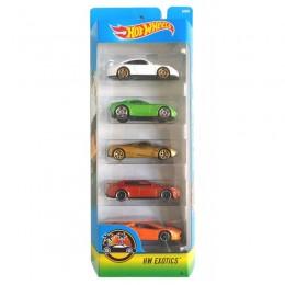 Hot Wheels 1806  Zestaw pięciu samochodów ExoticsDJD29