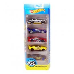 Hot Wheels 1806  Zestaw pięciu samochodów Speed Graphics DVF87