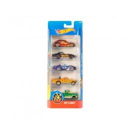 Hot Wheels 1806  Zestaw pięciu samochodów Flames DJD22