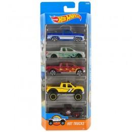 Hot Wheels 1806  Zestaw pięciu samochodów Hot Trucks DJD28