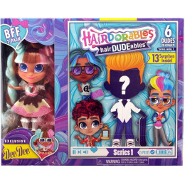 Hairdorables - Laleczka Dee Dee i chłopiec hairDUDEables - 13 niespodzianek 23701