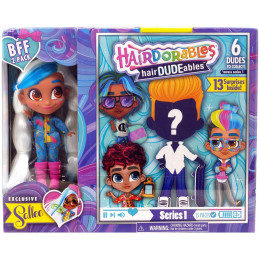 Hairdorables - Laleczka Sallee i chłopiec hairDUDEables - 13 niespodzianek 23701