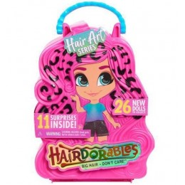 Hairdorables – seria 5 – Lalka w walizce w cętki + akcesoria 23850