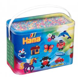 Koraliki Hama MIDI 30.000 Koralików w Pudełku Pastelowe 208-50