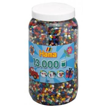 Koraliki Hama MIDI 13.000 Koralików Mix Kolorów 21100