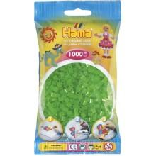 Koraliki Hama MIDI 1000 Koralików 207-37 Kolor Zielony Neonowy Transparentny