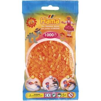 Koraliki Hama MIDI 1000 Koralików 207-38 Kolor Pomarańczowy Neonowy Transparentny