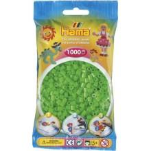 Koraliki Hama MIDI 1000 Koralików 207-42 Kolor Zielony Neonowy