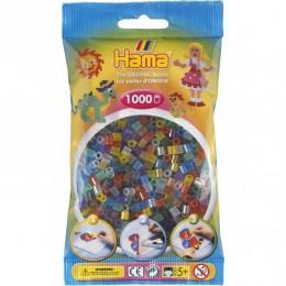 Koraliki Hama MIDI 1000 Koralików 207-53 Kolor MIX 6 Kolorów Transparentnych