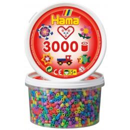 Koraliki Hama 21050 MIDI 3.000 Koralików Pastelowe