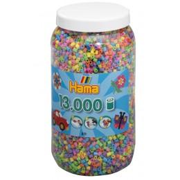 Koraliki Hama MIDI 13.000 Koralików Mix Kolorów pastelowych 21150