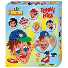 Koraliki Hama Midi - Zestaw - Zabawne twarze - 3232