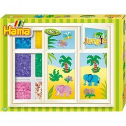 3720 Koraliki HAMA MIDI Okienne Dekoracje Dżungla