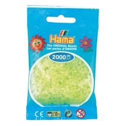 Koraliki Hama Mini - Żółte neonowe transparentne 2 tys. 501-34