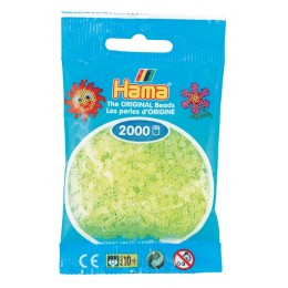 Koraliki Hama Mini 2000 Koralików 501-34 Kolor Żółte neonowe transparentne