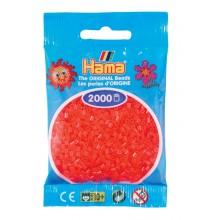 Koraliki Hama Mini - Czerwone neonowe transparentne 2 tys. 501-35