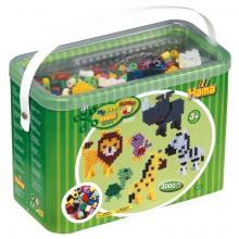 Hama Maxi - Koraliki w pudełku 3 tysiące z podkładkami - 8804