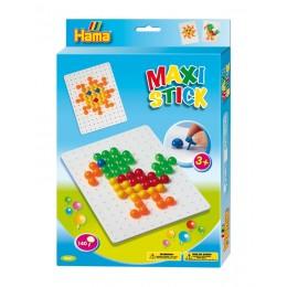Hama Maxi Stick - Układanka z pinezek 140 el. - Papuga 9667