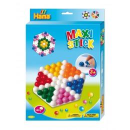 Hama Maxi Stick - Układanka z pinezek 140el. - Sześciokąt 9669