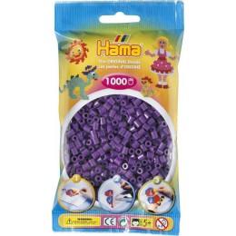 Koraliki Hama MIDI 1000 Koralików 207-07 Kolor Fioletowy