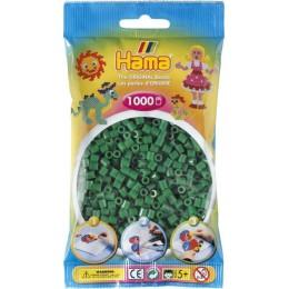 Koraliki Hama MIDI 1000 Koralików 207-10 Kolor Zielony