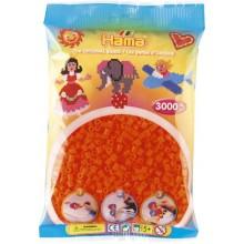 Koraliki Hama MIDI 3000 Koralików 201-40 Kolor Pomarańczowy Neonowy