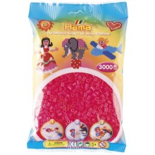 Koraliki Hama MIDI 3000 Koralików 201-32 Kolor Różowy Neonowy Transparentny