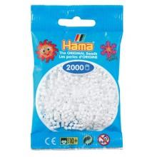 Koraliki Hama MINI 2000 Koralików 501-01 Kolor Biały