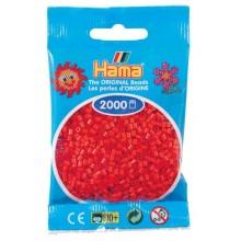 Koraliki Hama MINI 2000 Koralików 501-05 Kolor Czerwony