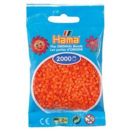 Koraliki Hama MINI 2000 Koralików 501-04 Kolor Pomarańczowy