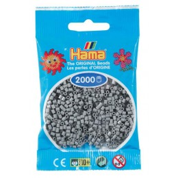Koraliki Hama MINI 2000 Koralików 501-17 Kolor Popielaty