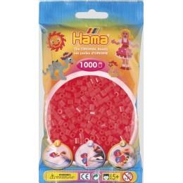 Koraliki Hama MIDI 1000 Koralików 207-35 Kolor Czerwony Neonowy Transparentny