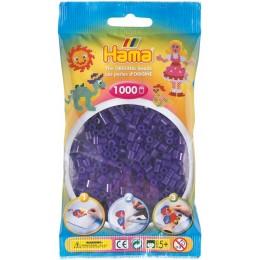 Koraliki Hama MIDI 1000 Koralików 207-24 Kolor Fioletowy Transparentny