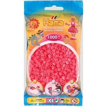 Koraliki Hama MIDI 1000 Koralików 207-33 Kolor Łososiowy Neonowy