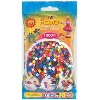 Koraliki Hama MIDI 1000 Koralików 207-00 Kolor MIX 10 kolorów
