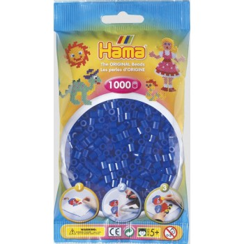 Koraliki Hama MIDI 1000 Koralików 207-36 Kolor Niebieski Neonowy Transparentny