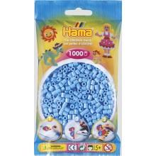 Koraliki Hama MIDI 1000 Koralików 207-46 Kolor Niebieski Pastelowy