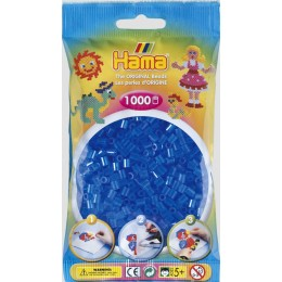 Koraliki Hama MIDI 1000 Koralików 207-15 Kolor Niebieski Transparentny