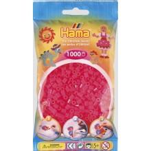 Koraliki Hama MIDI 1000 Koralików 207-32 Kolor Różowy Neonowy Transparentny