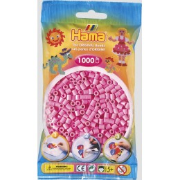 Koraliki Hama MIDI 1000 Koralików 207-48 Kolor Różowy Pastelowy