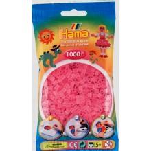 Koraliki Hama MIDI 1000 Koralików 207-72 Kolor Różowy Transparentny
