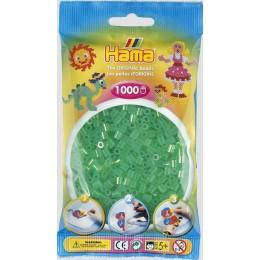 Koraliki Hama MIDI 1000 Koralików 207-16 Kolor Zielony Transparentny