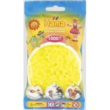 Koraliki Hama MIDI 1000 Koralików 207-34 Kolor Żółty Neonowy Transparentny
