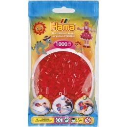 Koraliki Hama MIDI 1000 Koralików 207-13 Kolor Czerwony Transparentny
