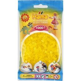 Koraliki Hama MIDI 1000 Koralików 207-14 Kolor Żółty Transparentny