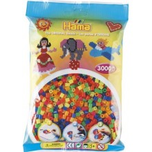 Koraliki Hama MIDI 3000 Koralików 201-51 Kolor MIX Neonowy