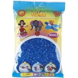 Koraliki Hama MIDI 3000 Koralików 201-15 Kolor Niebieski Transparentny