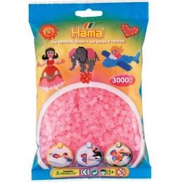 Koraliki Hama MIDI 3000 Koralików 201-72 Kolor Różowy Transparentny